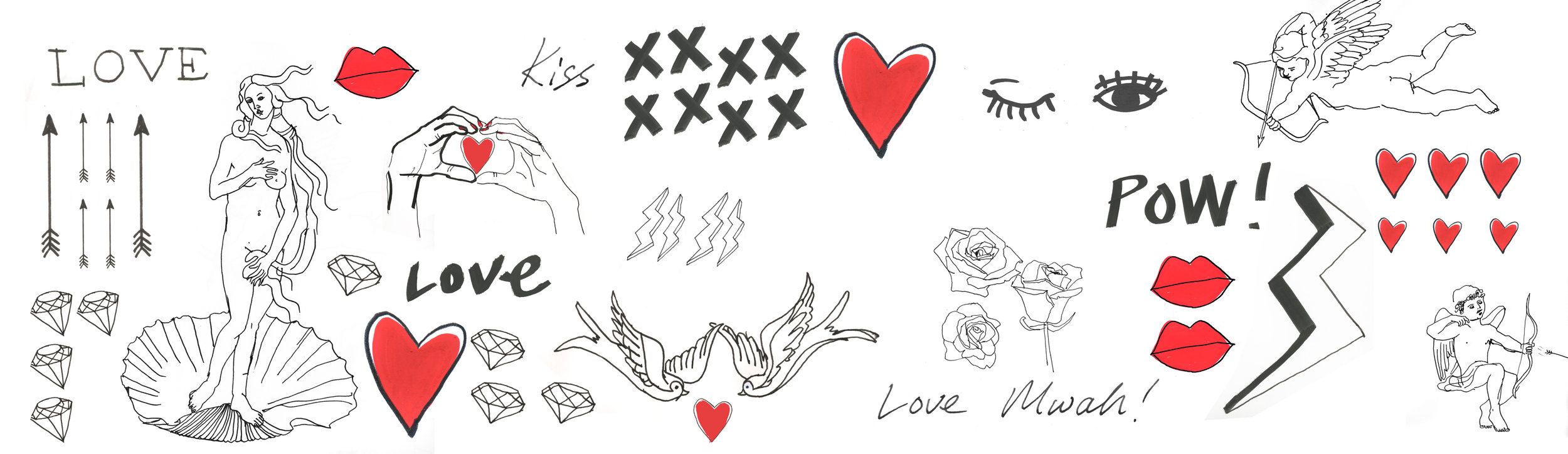 Miller Harris: Valentines stickers for candles