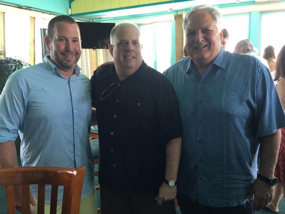 Summertime in Annapolis! A fundraiser boat outing with Governor Larry Hogan and Michael Day of F.O. Day
