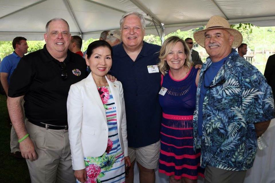 Blue Angels Performance with Governor Hogan and his wife Yumi Hogan