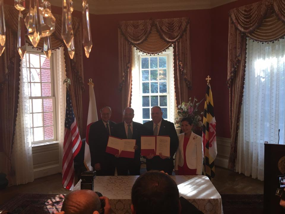 The Memo of Cooperation formalizes and strengthens the trade relationship between Maryland and Japan.
