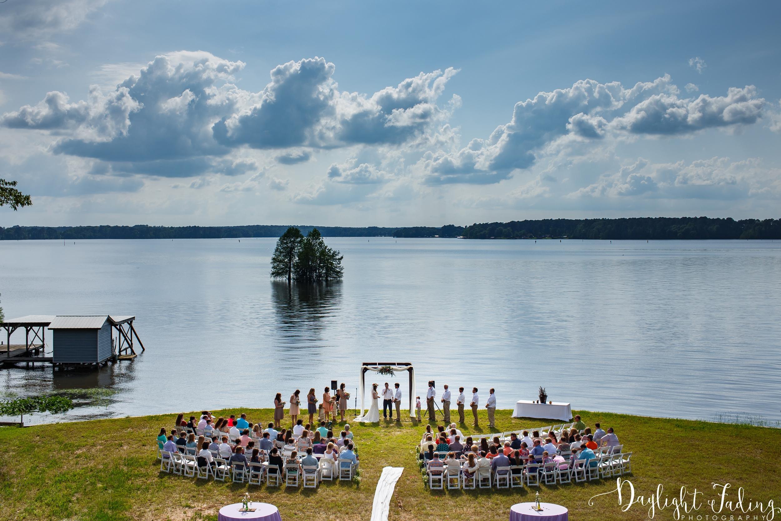 Wedding Ceremony on Lake Claiborne in Homer, Louisiana - daylightfadingphotography.com