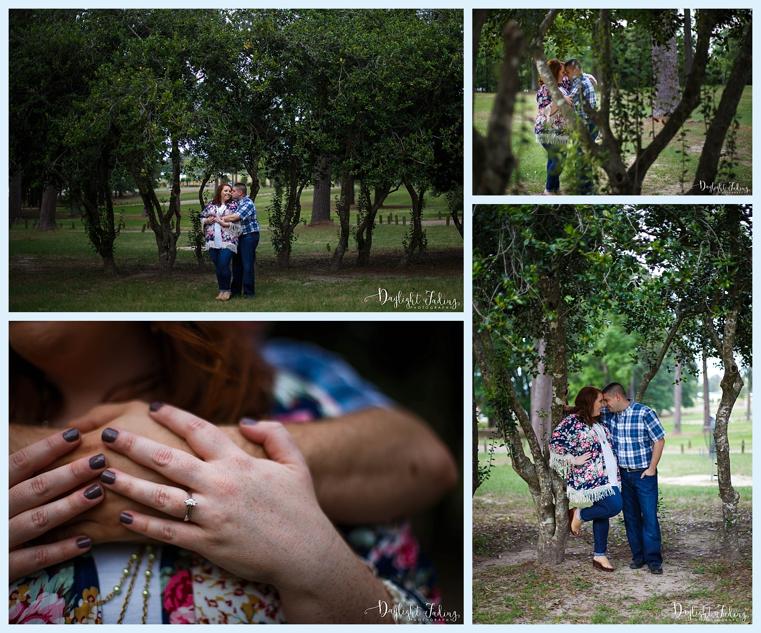Dog Military Engagement Session Ford Park Shreveport Louisiana