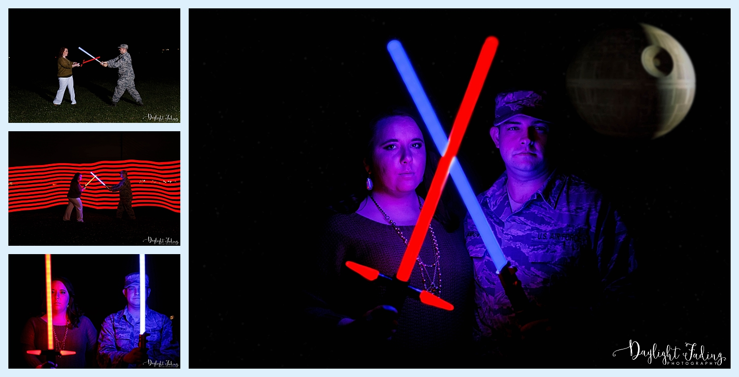 Star Wars Light Saber Jedi Sith Military Engagement Session Barksdale Air Force Base Bossier City Shreveport Louisiana