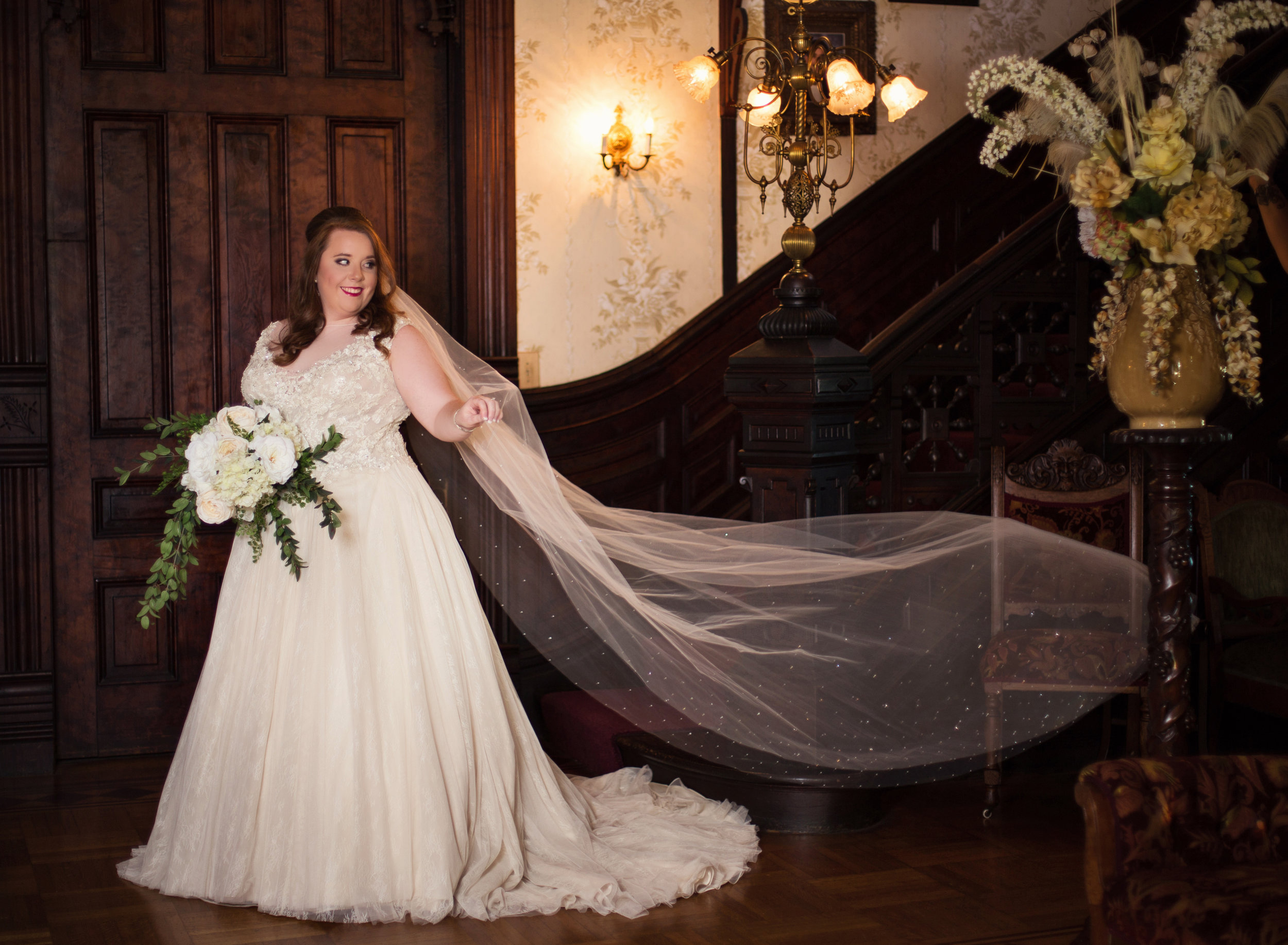 Bridal Portraits at Logan Mansion