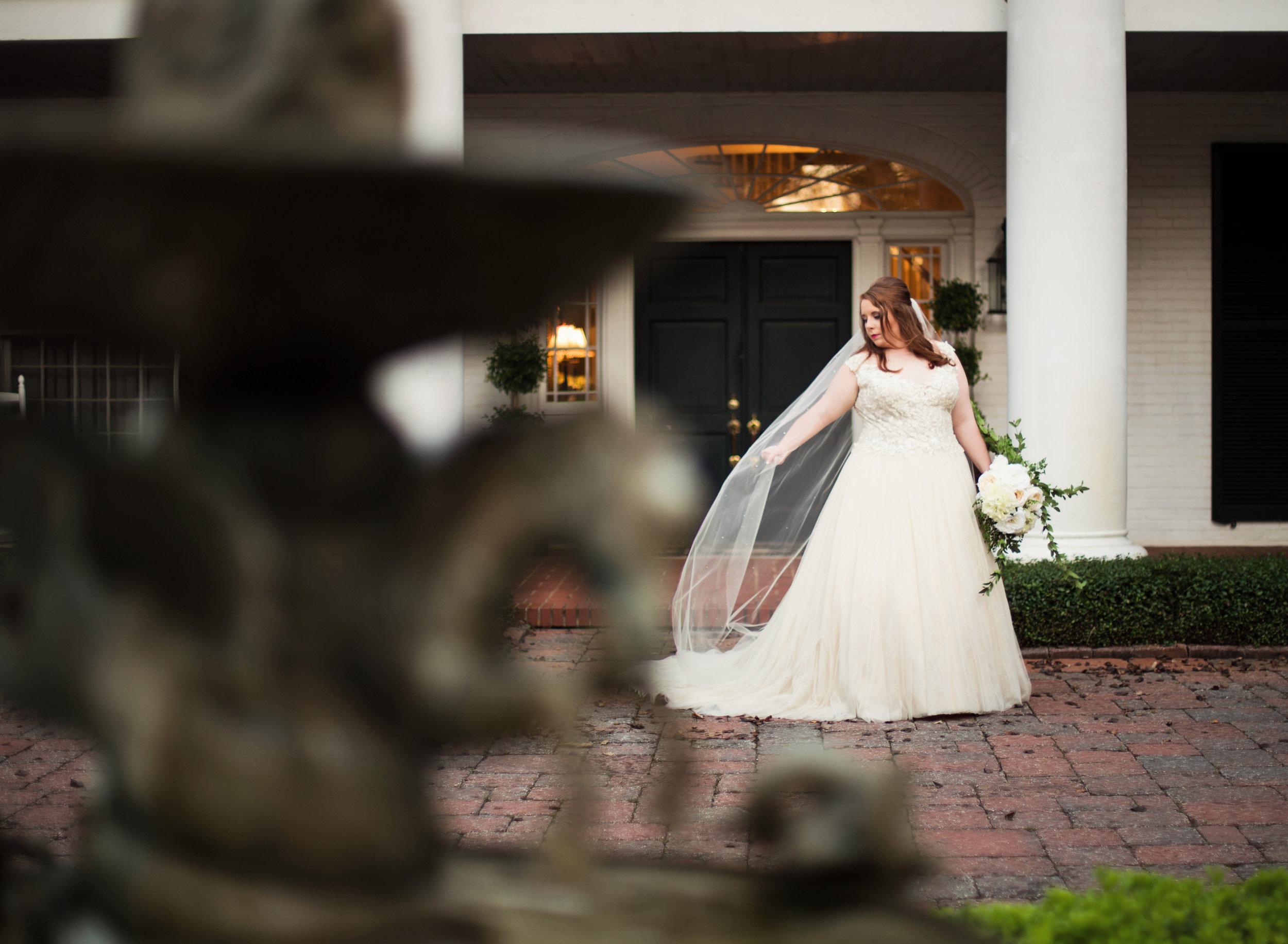 Bridal Portraits at CedarCroft Plantation near Shreveport - daylightfadingphotography.com