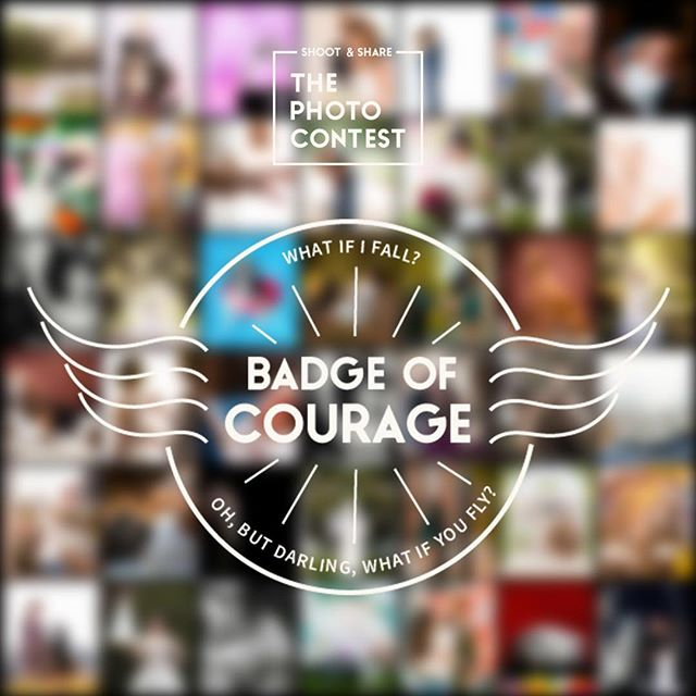 """This is my first year with photos in the annual Shoot & Share contest. I'm excited and more than a little bit nervous!⠀ """"What if I fall? Oh, but darling, what if you fly?""""⠀ ⠀ #shootandshare #badgeofcourage"""