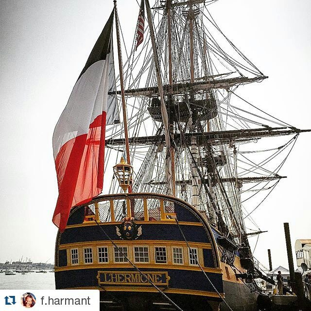 Come see us from 07/14-07/15 in #CastineME and celebrate Bastille Day, the French National Day! @f.harmant ・・・ #hermione #hermionevoyage #Hermione_lafayette #boston #lafayette #associationhermionelafayette #