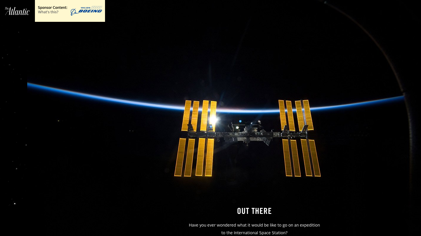 Boeing on the Atlantic: Behind a voyage to the International Space Station.   Link