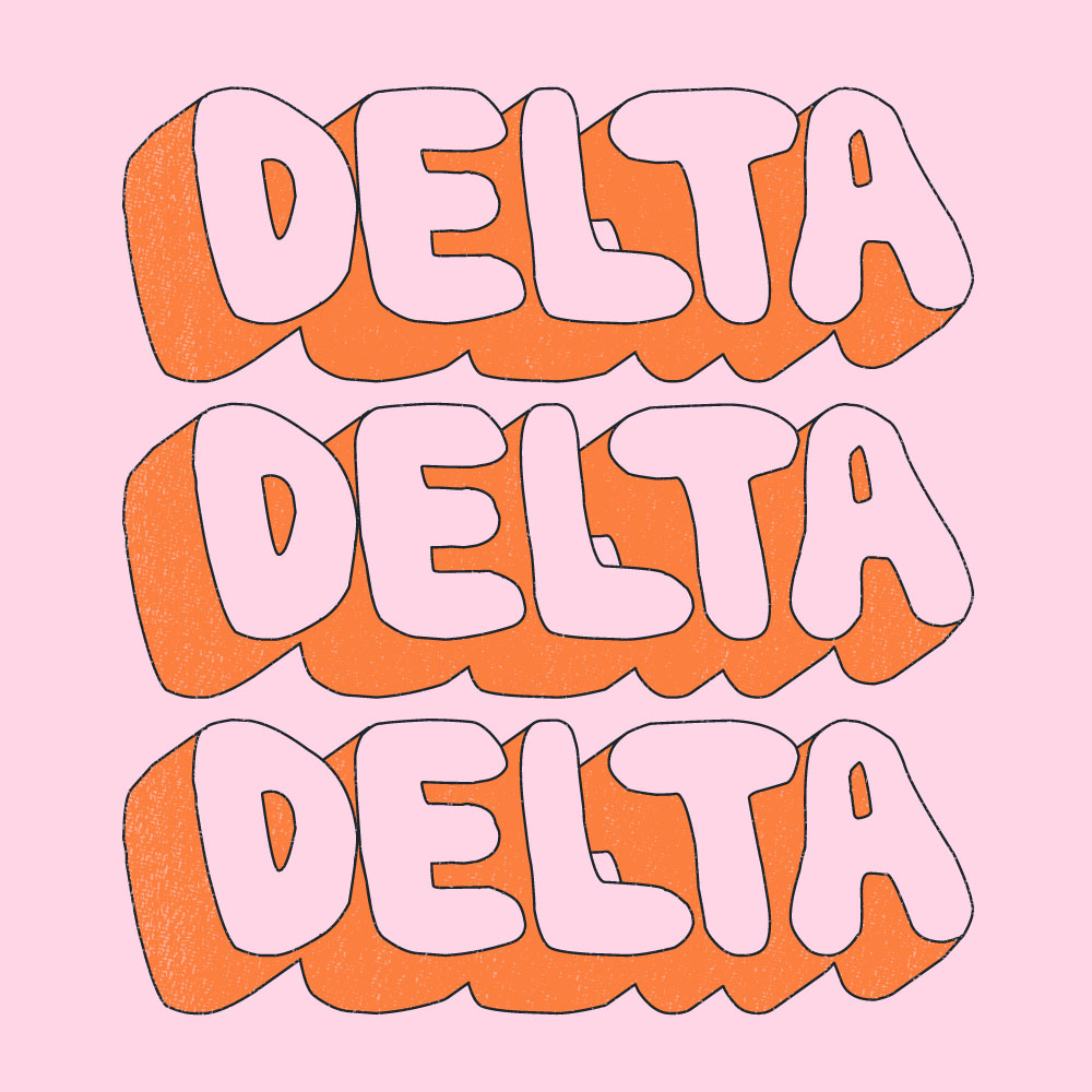 Bubble Letters. Alyssa Moore. T-Shirt Design. Apparel Graphic Design for The Neon South. Adobe Illustrator. Typography. Illustration. Vector illustration.