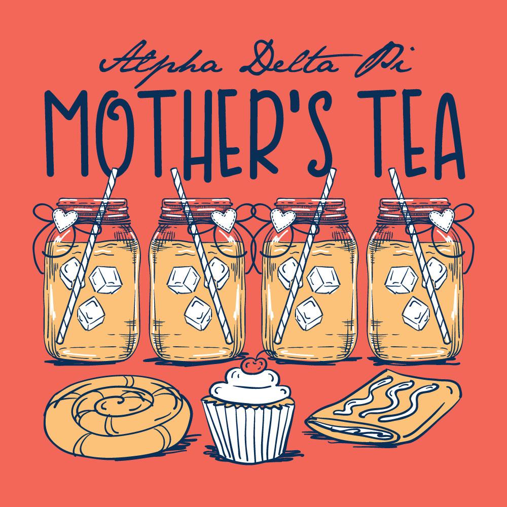Mother's Tea. Alyssa Moore. T-Shirt Design. Apparel Graphic Design for The Neon South. Adobe Illustrator. Typography. Illustration. Vector illustration.
