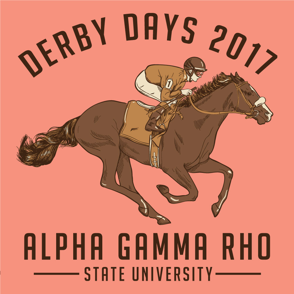 Derby Day. Alyssa Moore. T-Shirt Design. Apparel Graphic Design for Geneologie. Adobe Illustrator. Typography. Illustration. Vector illustration.