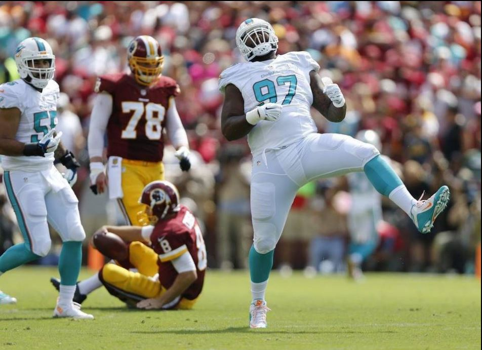 Jordan Phillips Records his first NFL Sack
