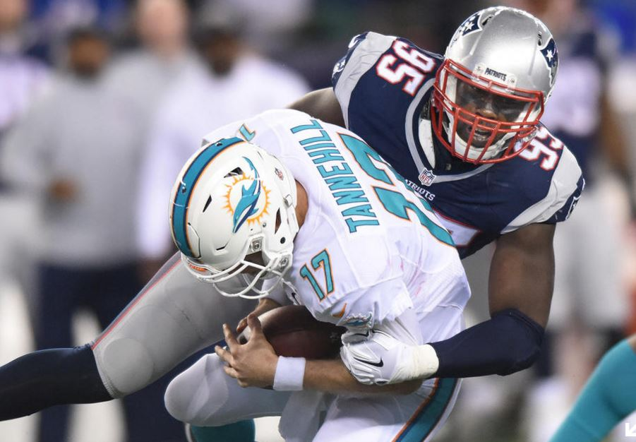Tannehill and the offense had no answers for the Patriots