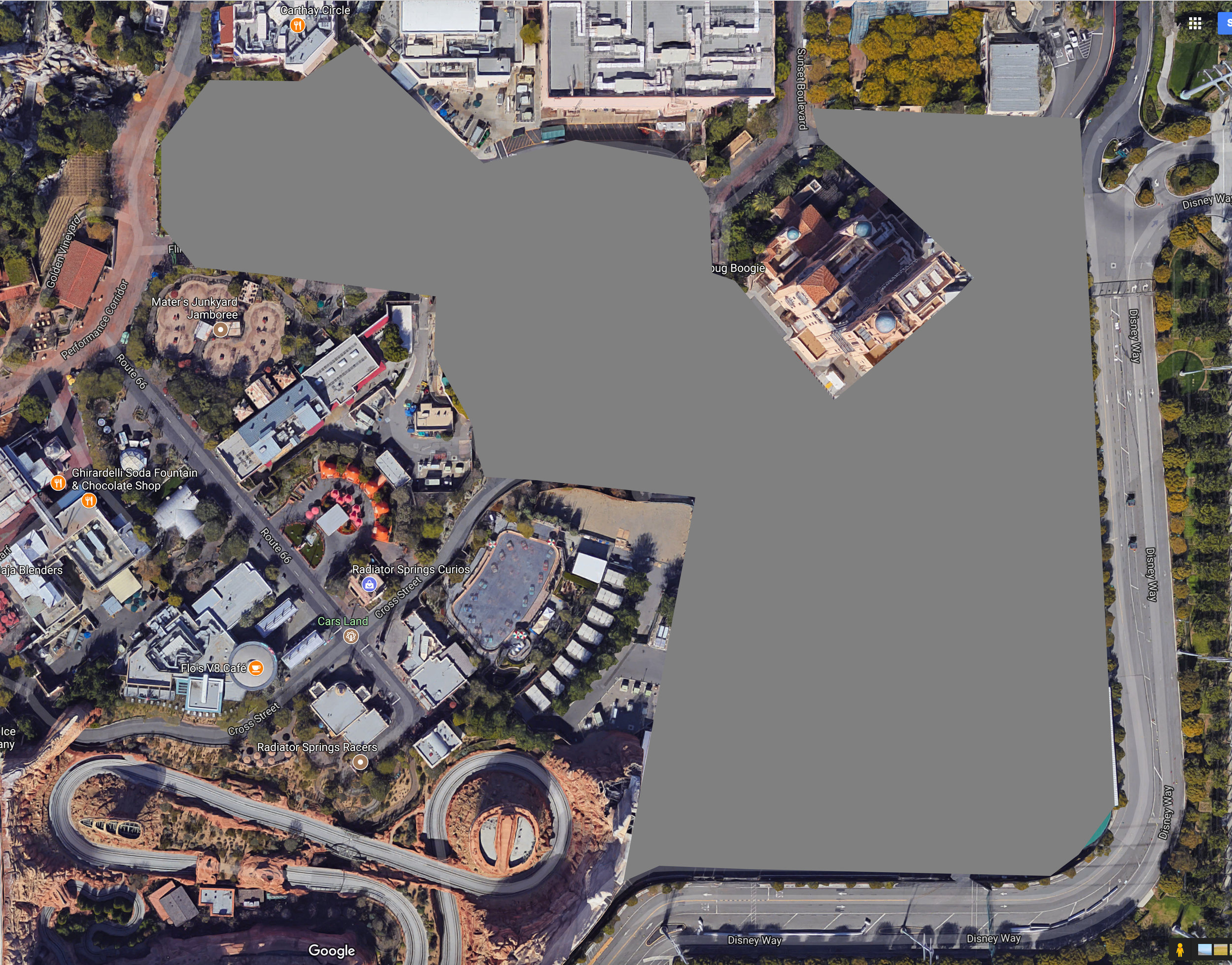Possible area for future Marvel Land expansion project.
