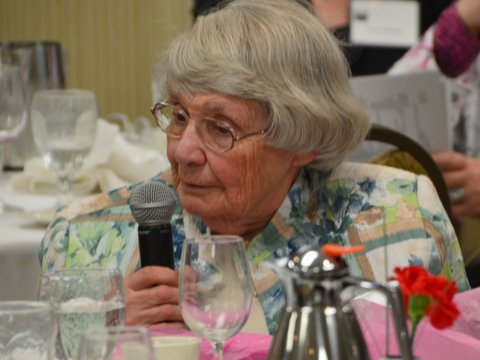 Sally Phelps, recipient of the 2015 Carrie Chapman Catt Award