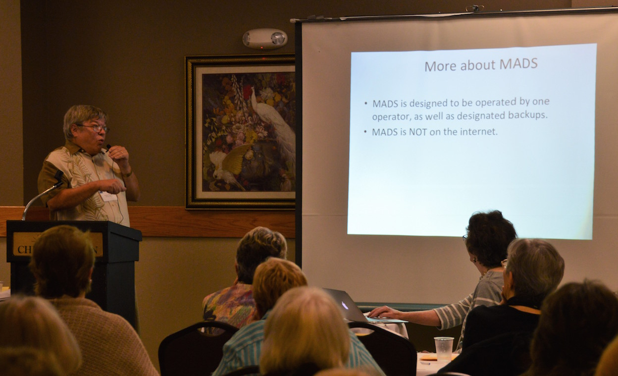 Steve Ploeser explains the ACCESS database he created for use by LWVDC.