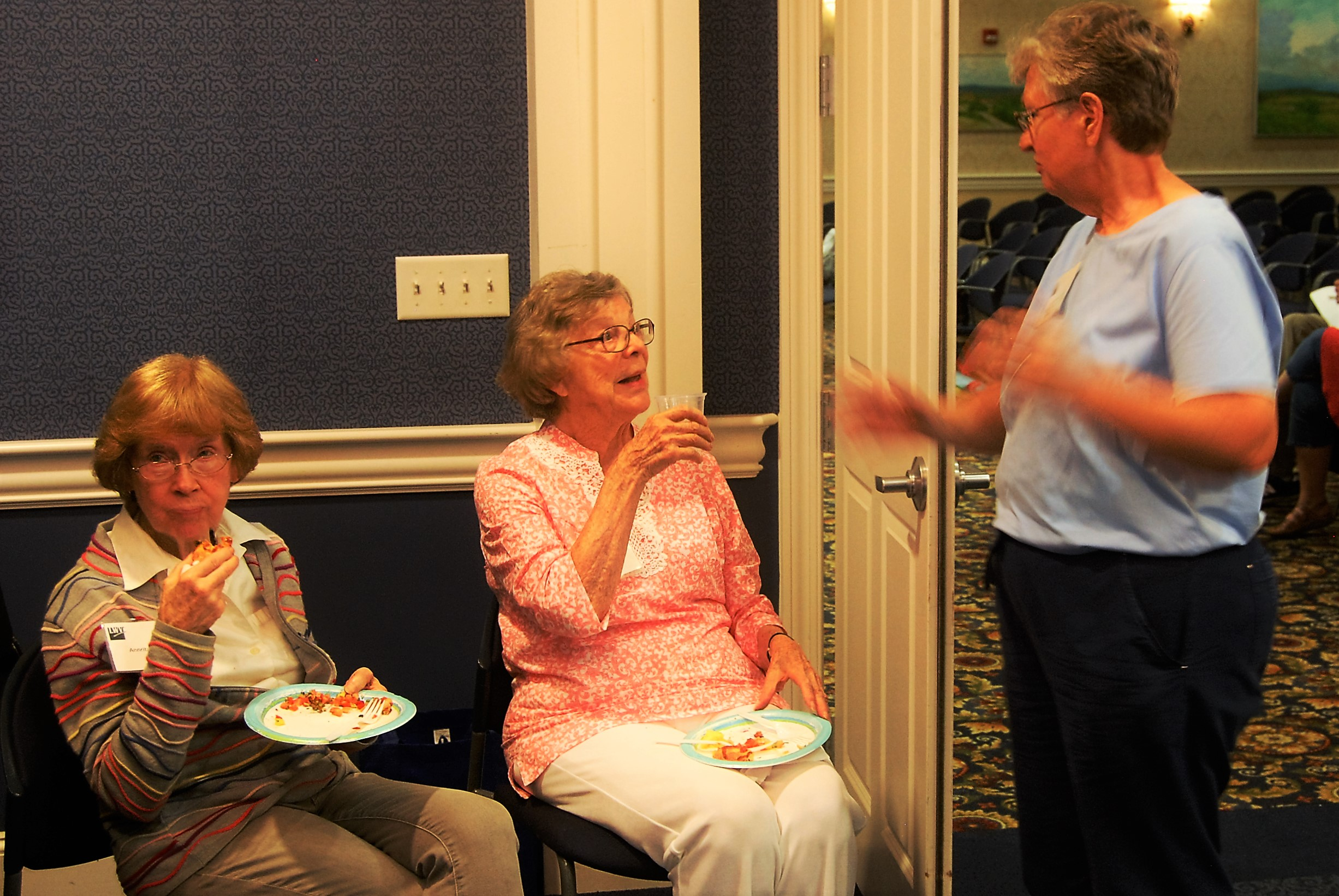 The annual open house is a chance for members to reacquaint over snacks.