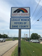 Look for this sign on Highway 14 west of Middleton.