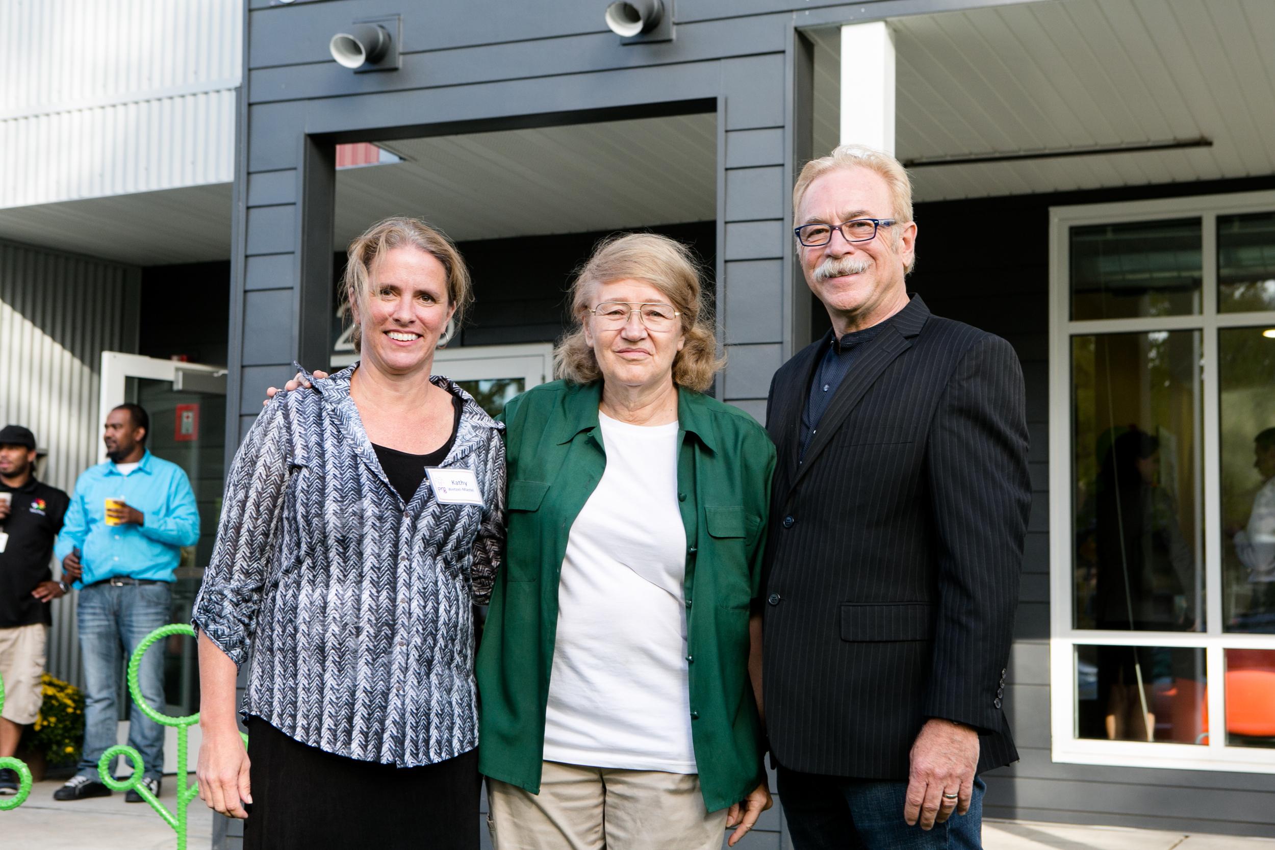 Project leaders Kathy Wetzel-Mastel of PRG, Inc., Carol Pass of EPIC, and Loren Brueggemann of Phoenix Development, Inc.