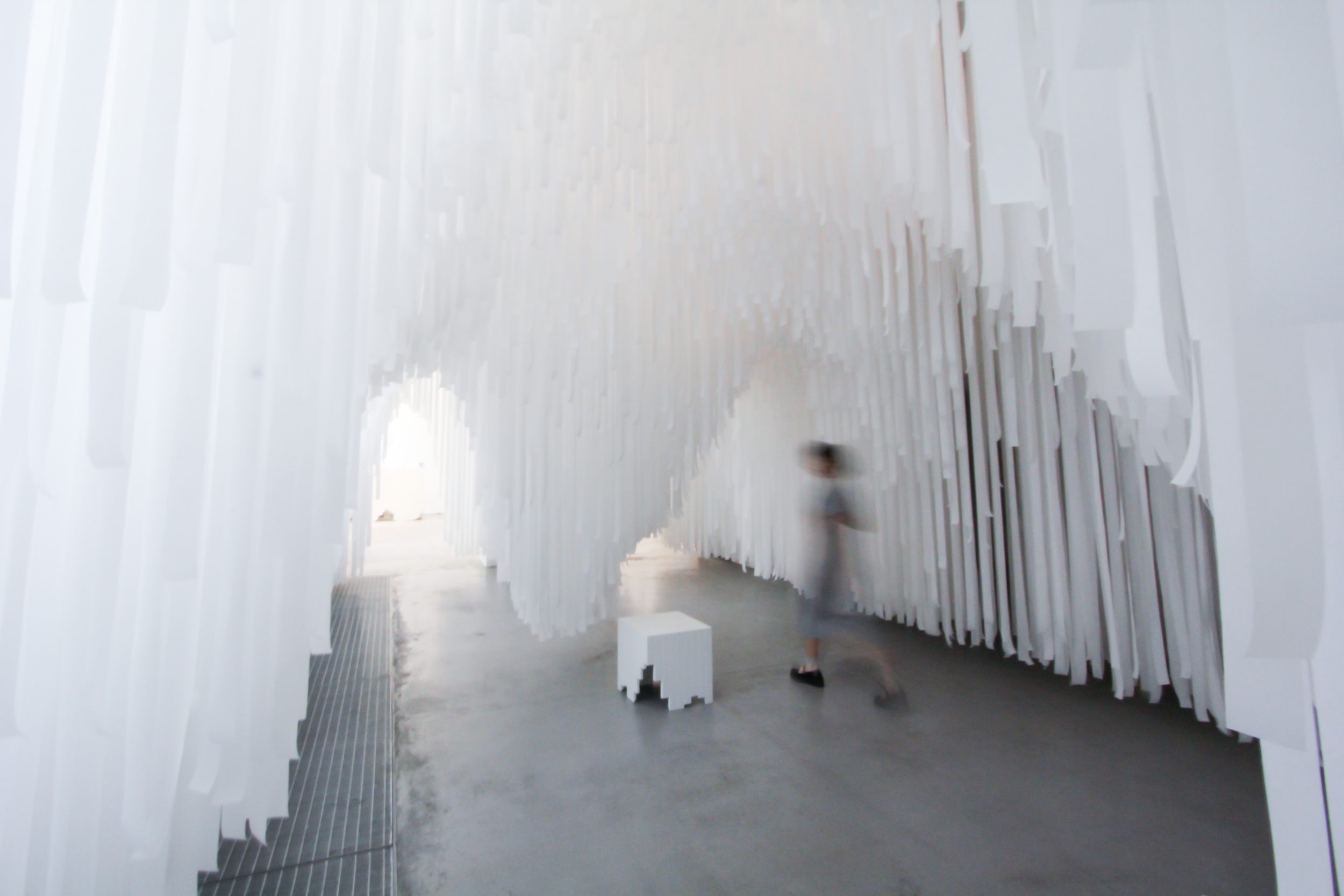 Exploring the tunnels. COS x Snarkitecture.  image ©futurecrafter