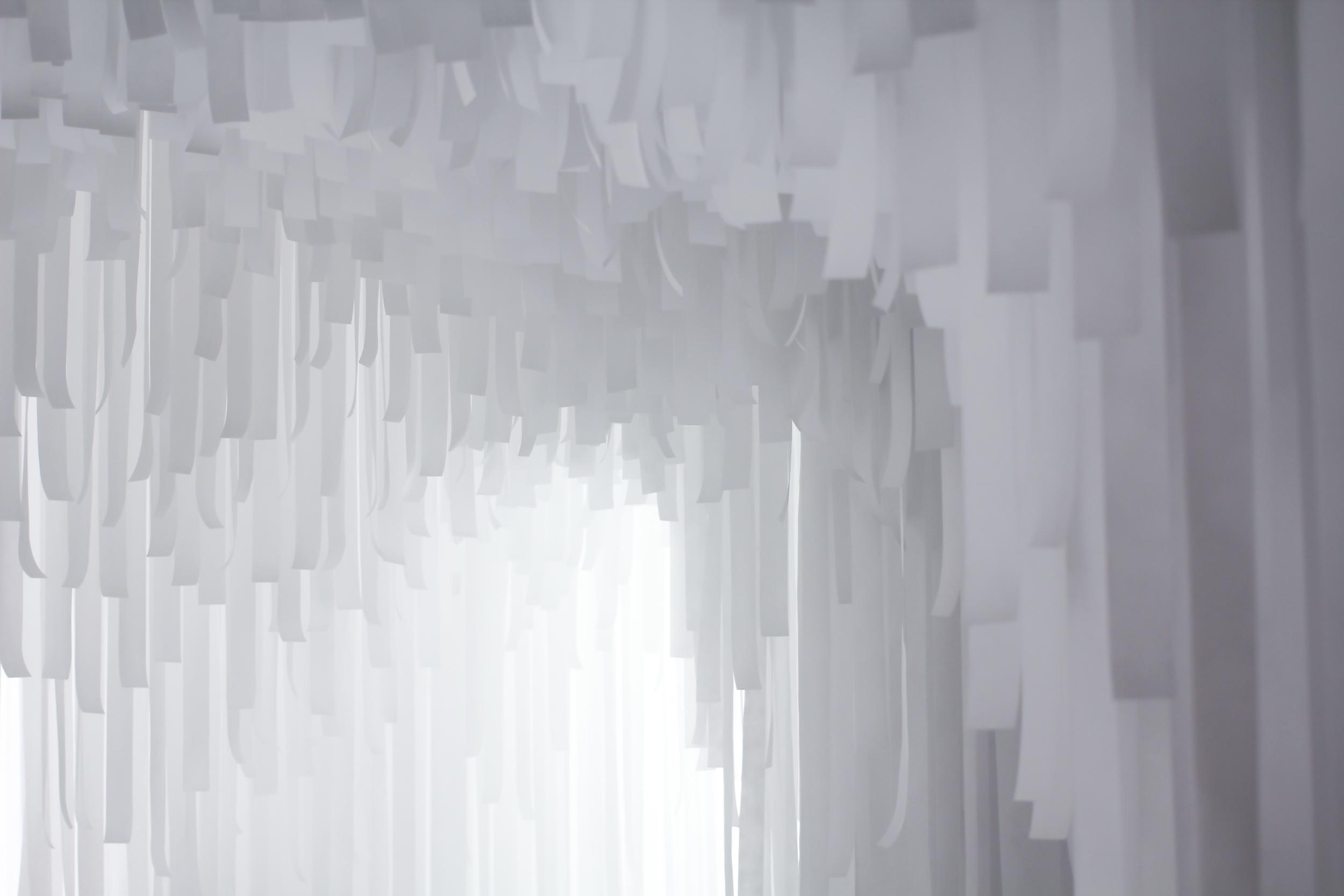 Layered of luminous material. COS x Snarkitecture.  image ©futurecrafter