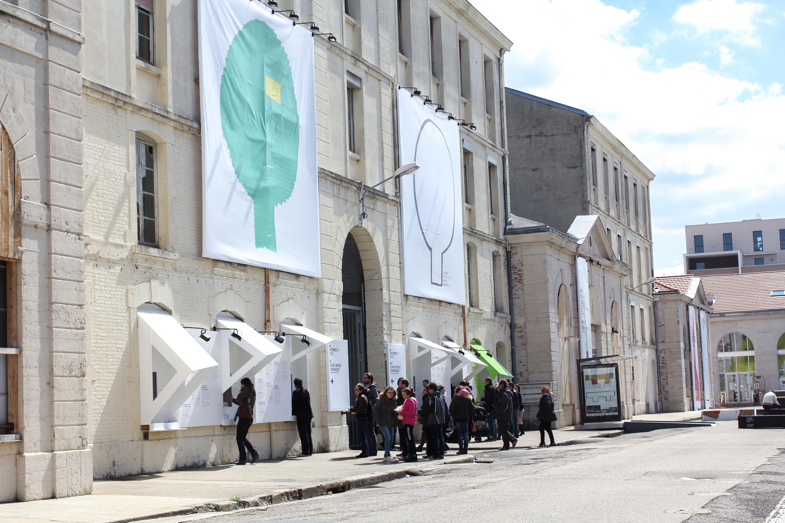 Entrance. Cité du Design. image ©futurecrafter