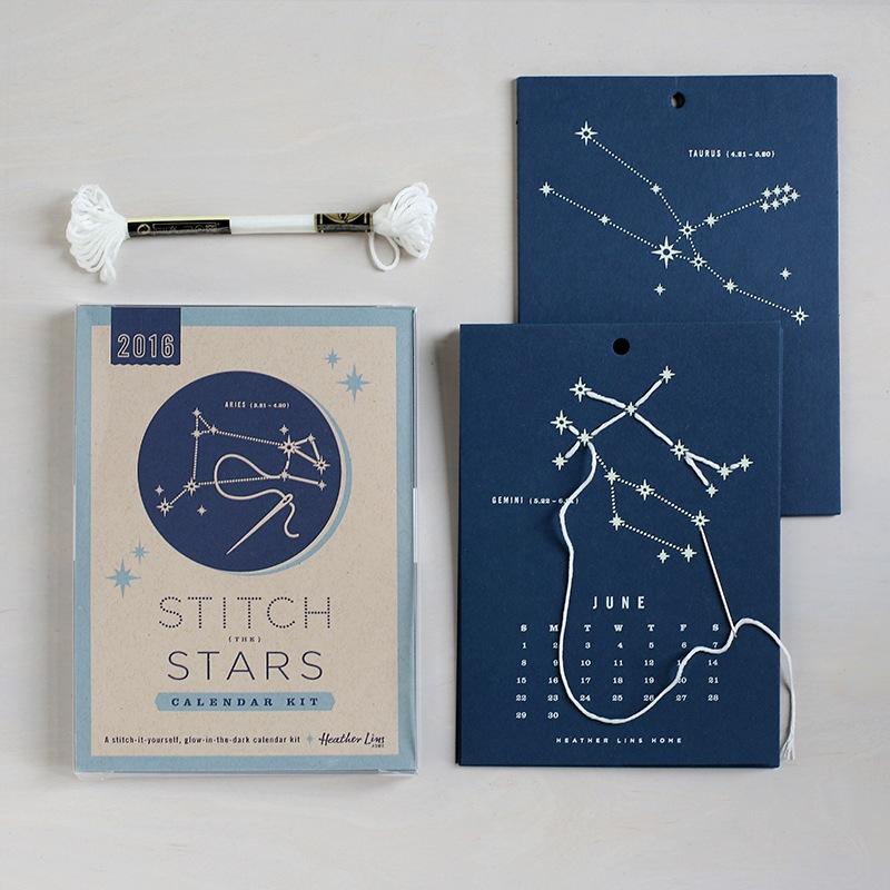2016 Stitch The Stars Calendar Kit by Heather Lins