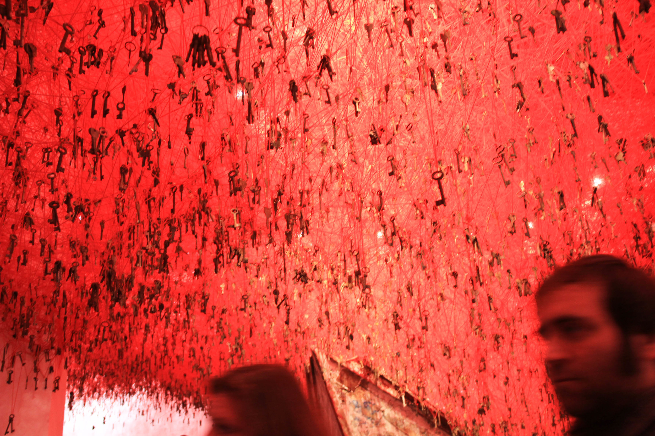 The Key in the Hand by Chiharu Shiota.