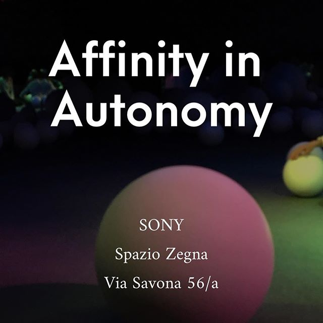 Affinity of Autonomy (stories) on envisioning between human and robotics.  Via Savona 56/a #affinityinautonomy #spaziozegna #milandesignweek #fuorisalone2019 #mdw2019 #fuorisalone #interactiondesign #sensorial #robotic#humanize