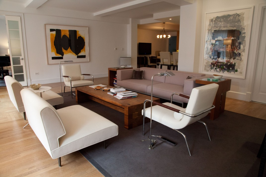In this apartment combination of a prewar condo off Central Park West, Bolster architect David Yum merged two living rooms to create an inviting central living space. David Yum Architects - Bolster