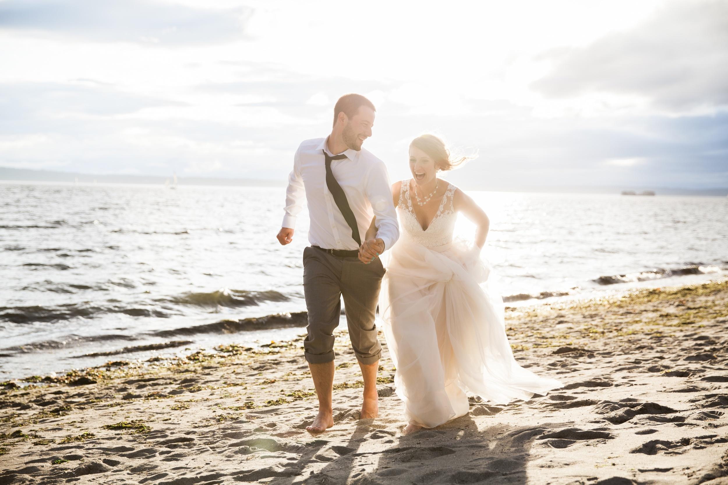 seattle wedding photographer film photography golden garden gardens state park ocean sand bride groom 41.jpg