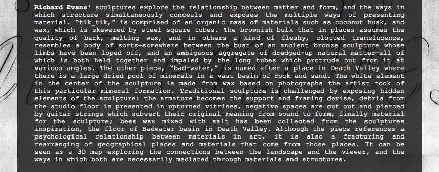 Press release – Its Endless Undoing – Thierry Goldberg – New York – June 2012