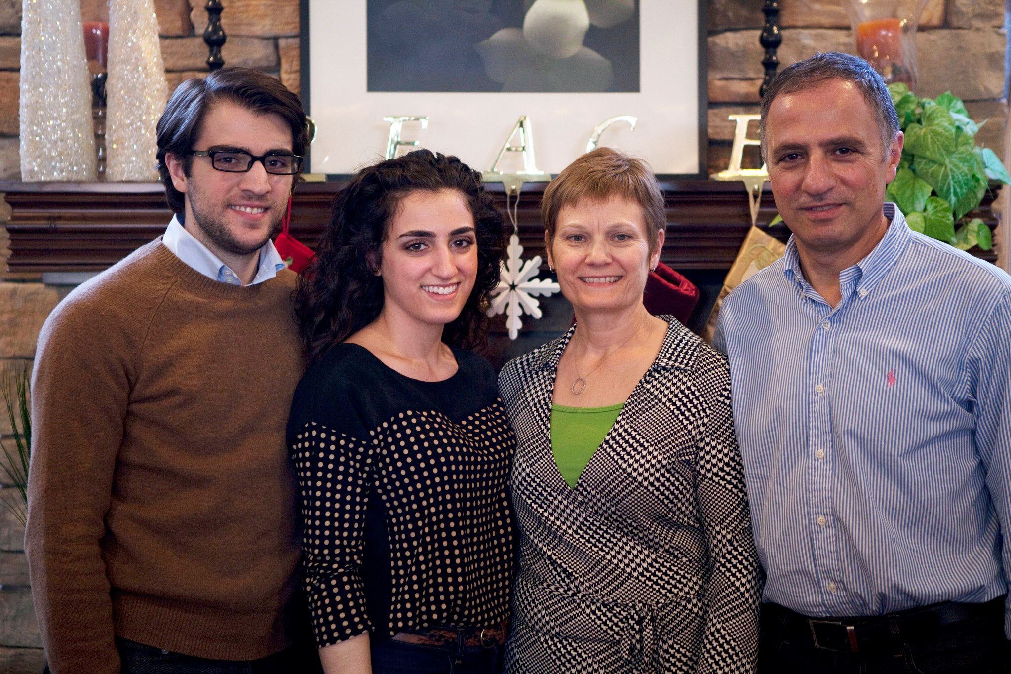 Habbeb Habeeb, his wife Joy, son Paul, and daughter Hannah