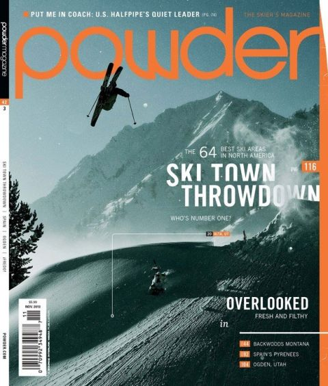 Thank You Mr.  Adam Clark  for nailing this one and making it on the cover of  Powder Mag