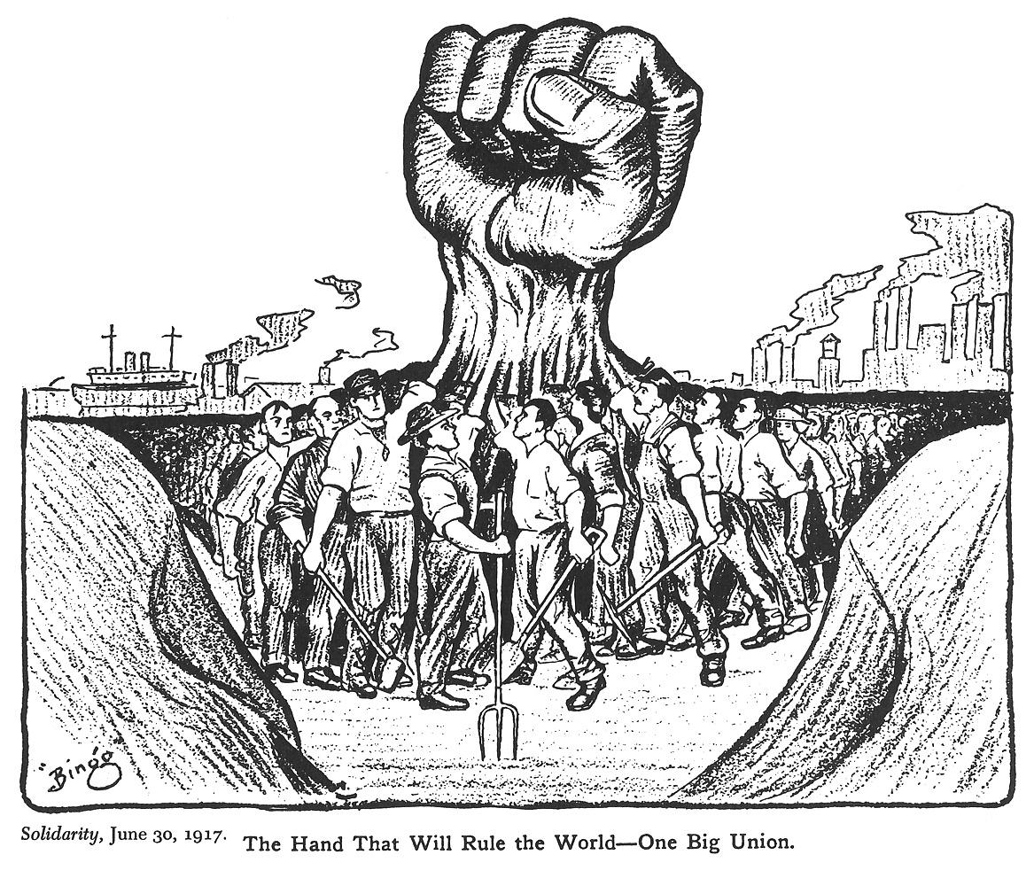 Ralph Chaplin,  Solidarity , June 30, 1917.    Click images to enlarge.