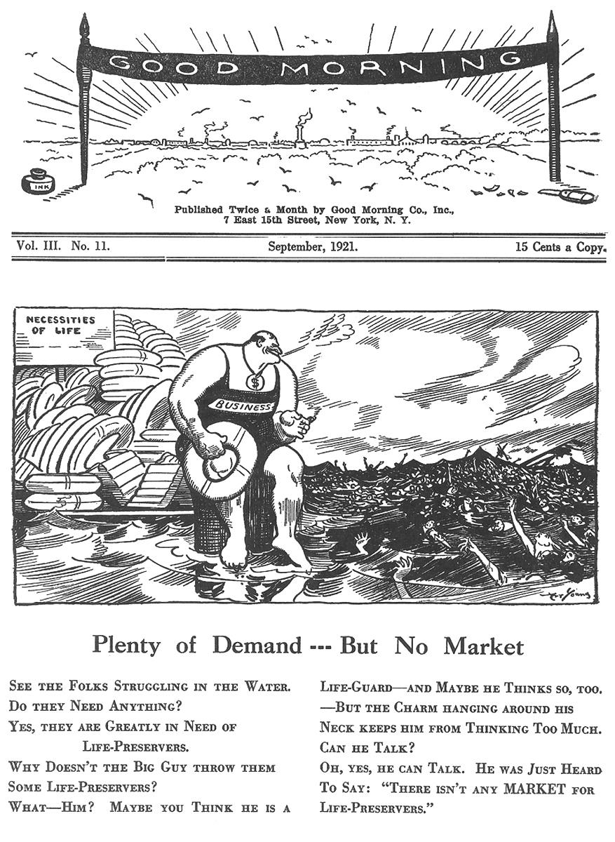 Art Young, Good Morning , September 1921.