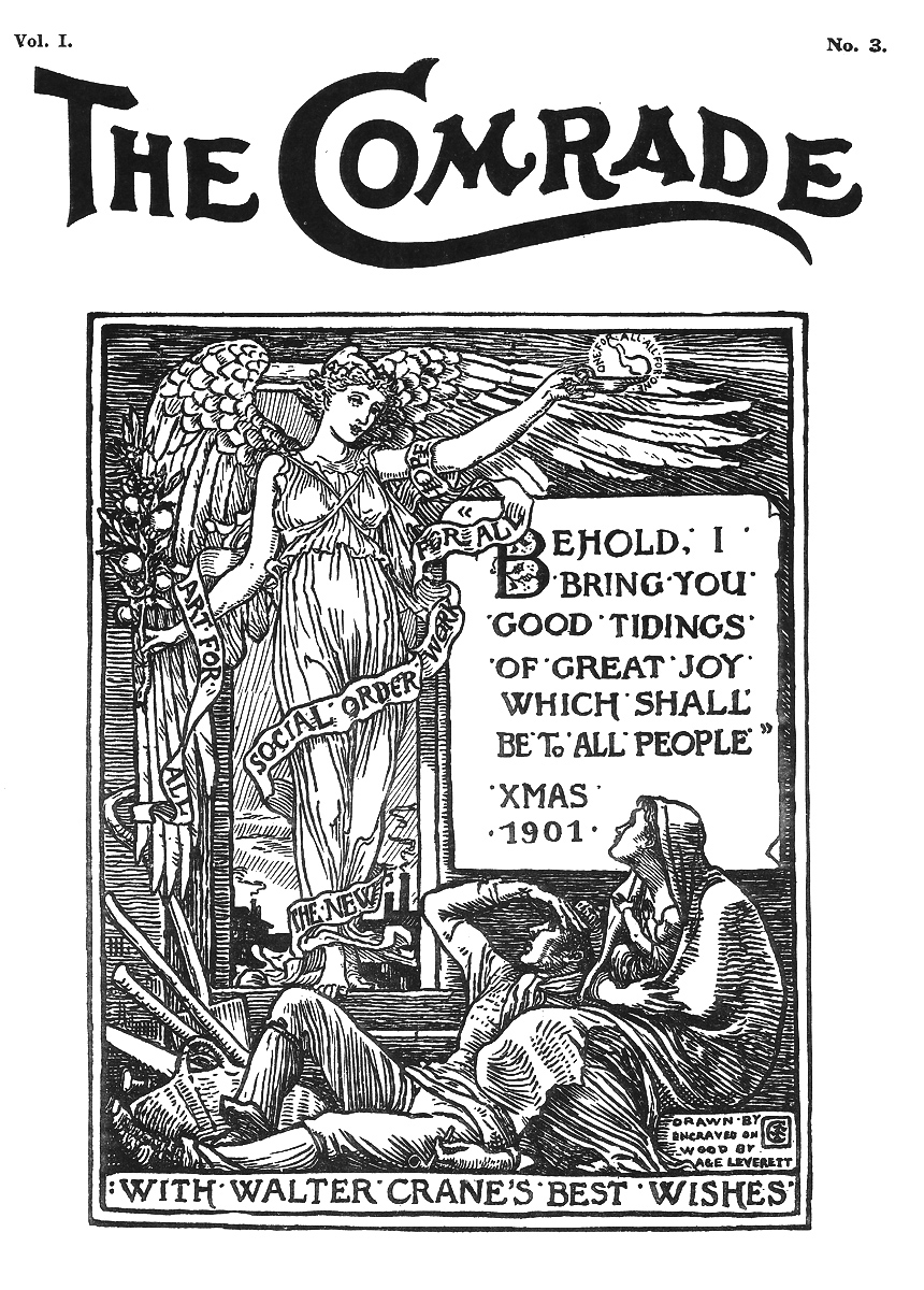 Walter Crane,  The Comrade , 1901.