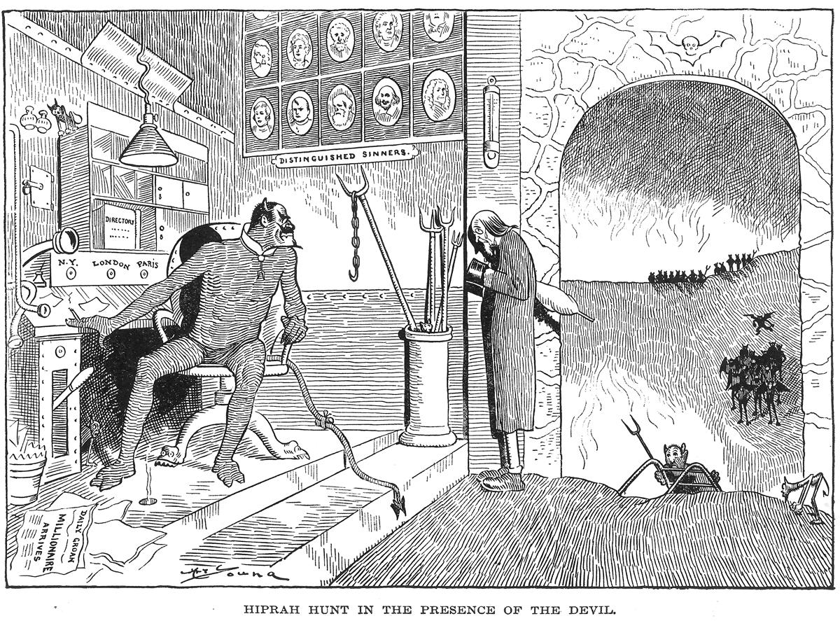 Hiprah Hunt visits Satan's new office in 1901.