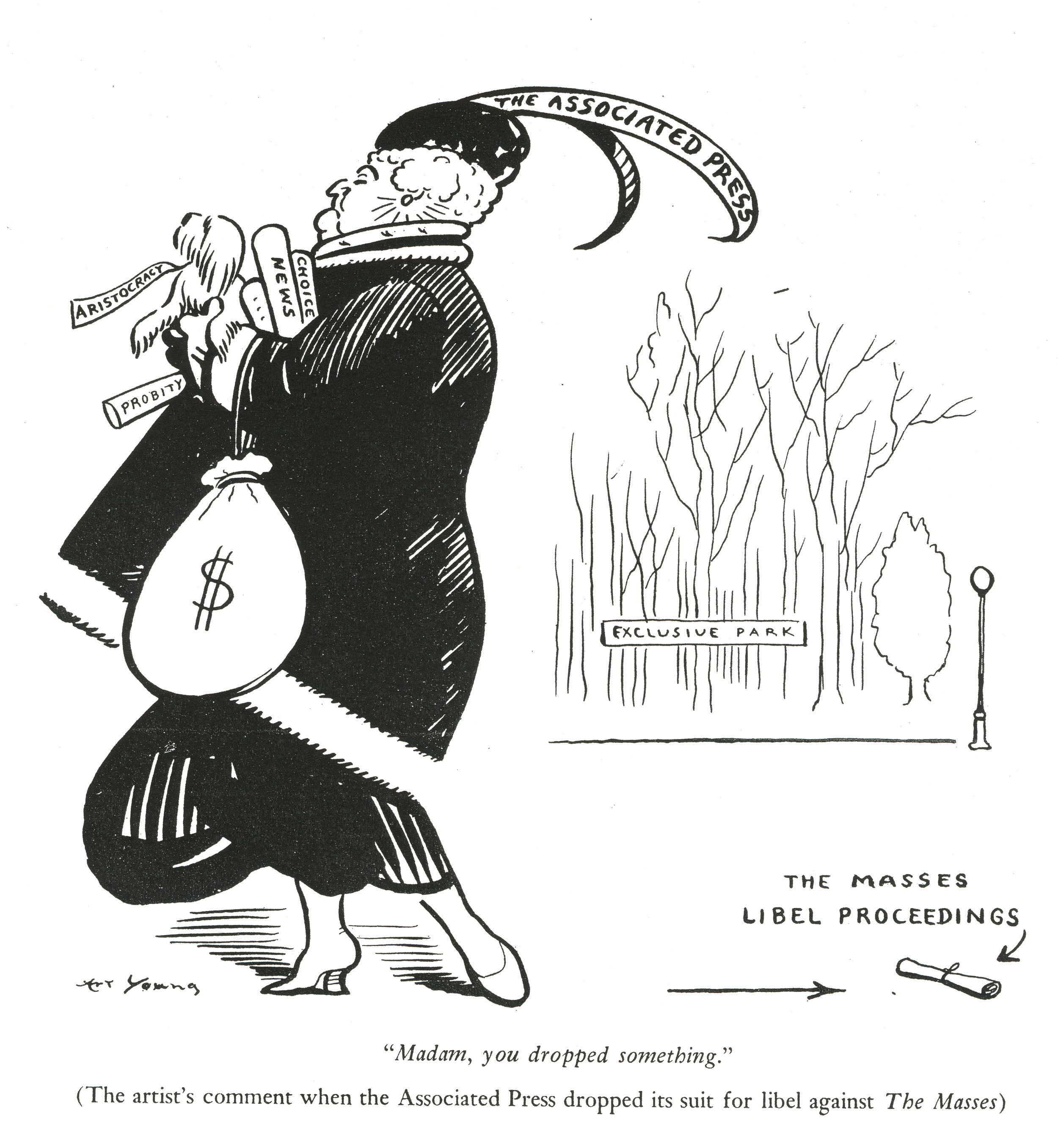 Art Young, originally published in  The Masses , February 1916.