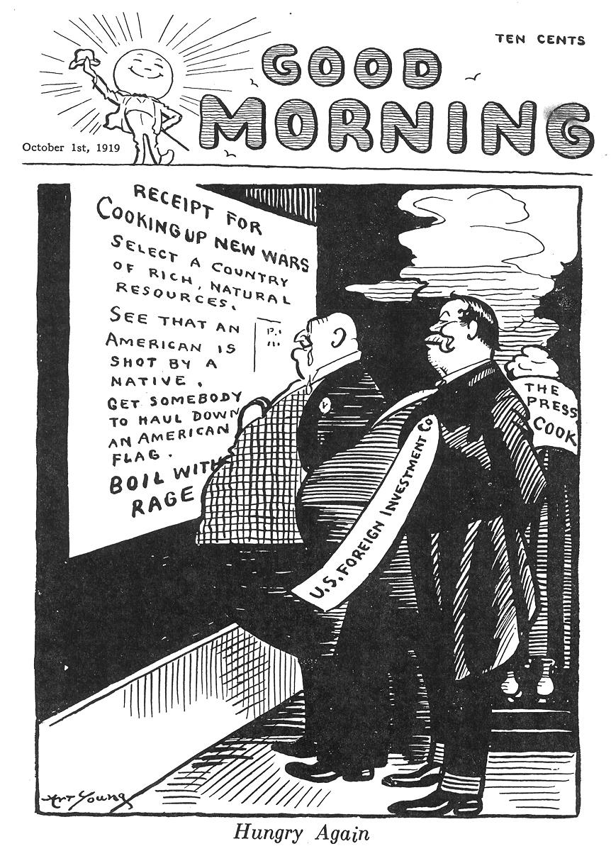 Art Young,  Good Morning  , October 1, 1920.