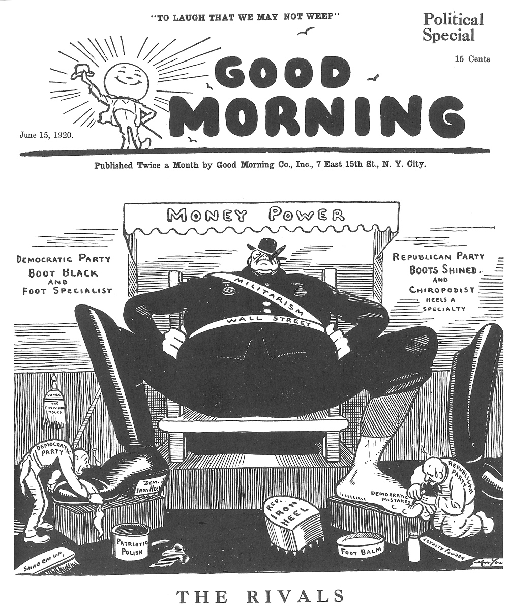 Art Young,  Good Morning , June 15, 1920.