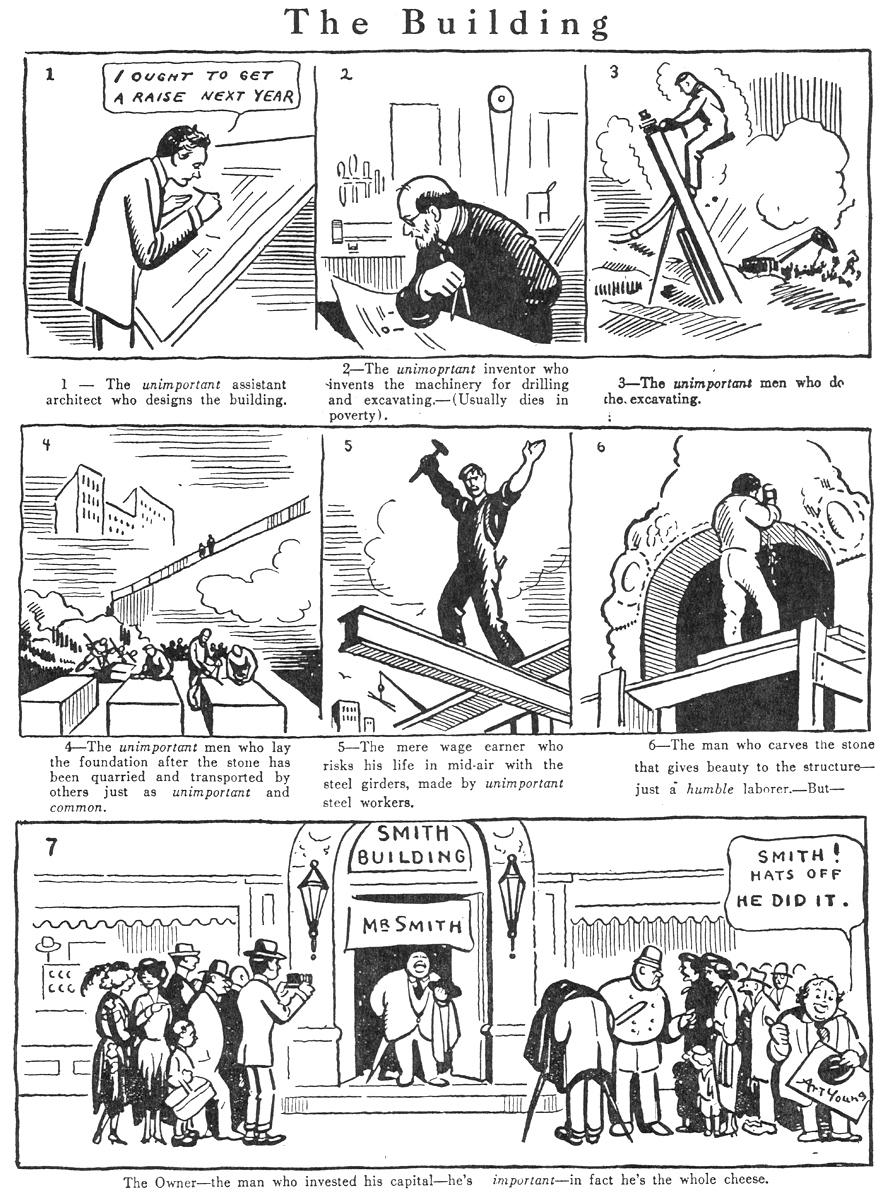 Art Young,  Good Morning , July 1, 1921.