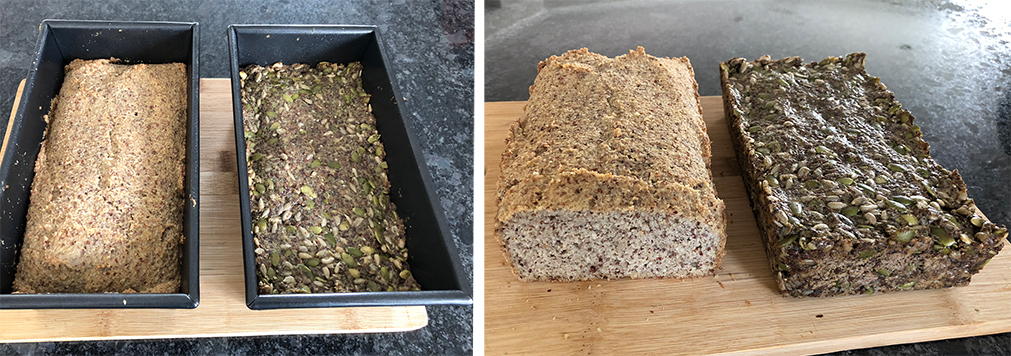 Almond Bread and  Seed Bread