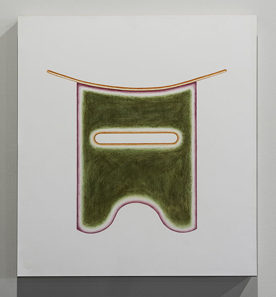 """Soft Visor  Colored Pencil on Paper, 20"""" x 20"""""""
