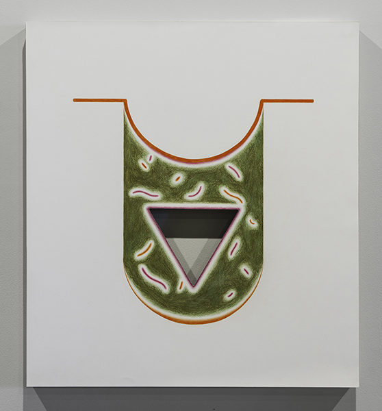 """A Natural Perforation  Colored Pencil on Paper on Panel, 20"""" x 20"""""""