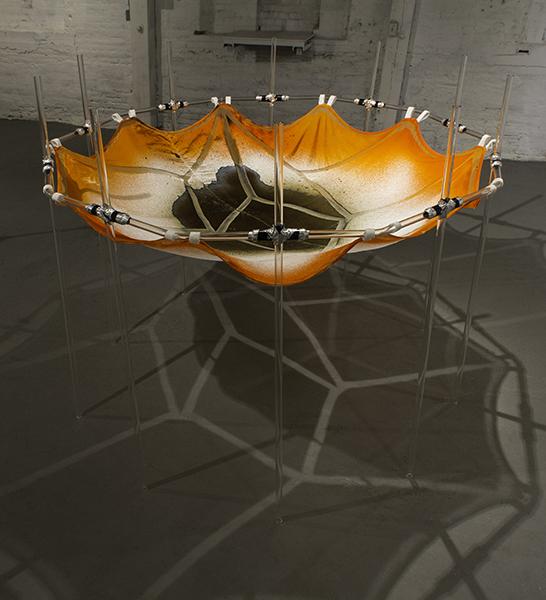 Sift Net  Velvet, Glass, Aluminum Tape 5' x 5' x 4', Collaboration