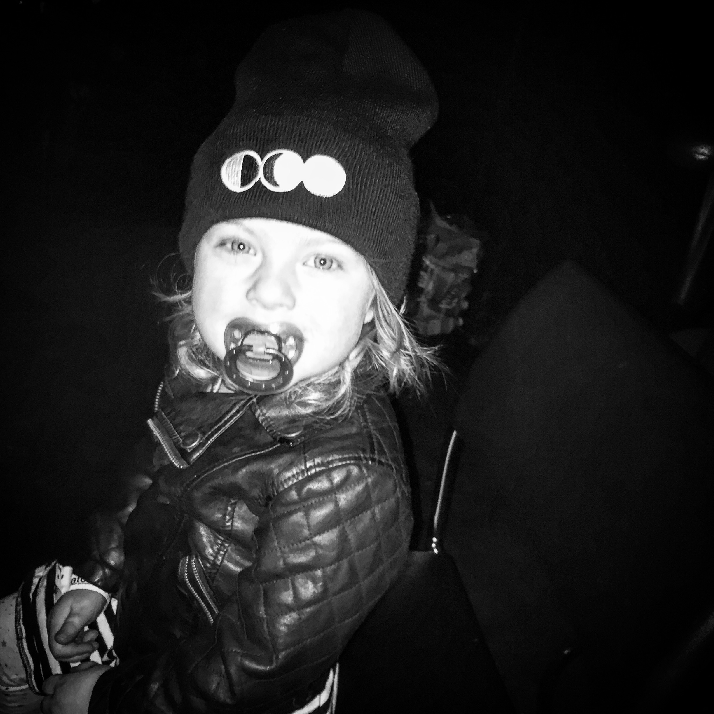 My daughter Nora rocking her Half Moon Run Toque at her first concert in Victoria, BC.