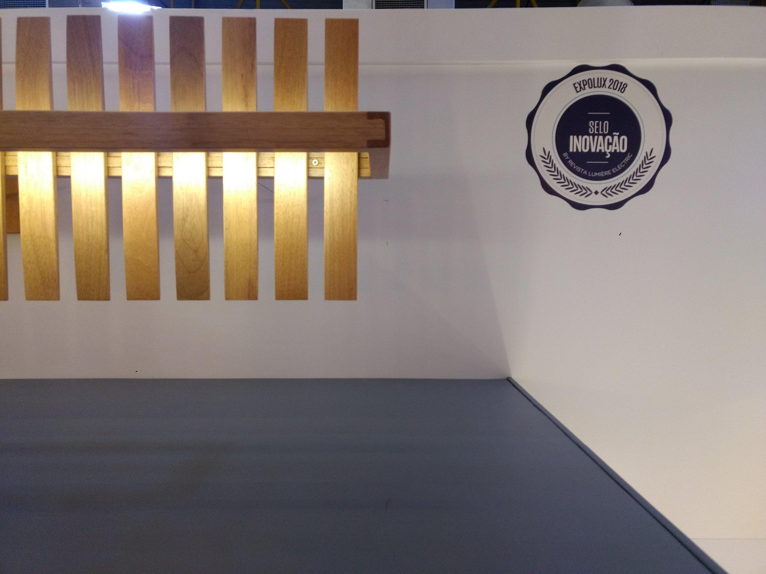 Luminária Ripa pendente recebeu o Selo Inovação Expolux 2018