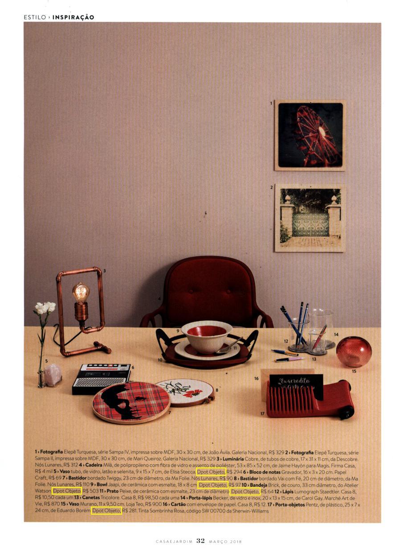 Revista Casa e Jardim:inspiração para organização do escritório com estilo:porta-objetos Pentz Vermelho
