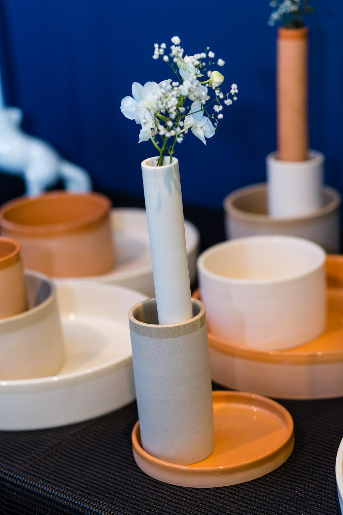 detalhe vasos Trio4, coleção Aterrário  foto: Massimo Failutti